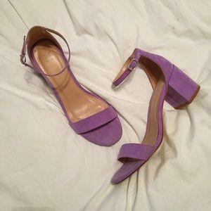 a new day: Purple Chunky Heels